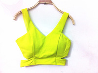 3-Dec New 5 Color Green Red Black White Blackless Zipper Bustier Vest Free Shipping