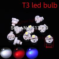1X T3 1 SMD car 12v Neo Wedge LED Bulb Cluster Instrument Dash Climate Base Light auto led xenon white