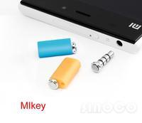 New 2pcs Original Xiaomi MIkey Quick Button Xiaomi Mi Button Smart Key Dustproof Plug Earphone Jack for MI2S MI3 Hongmi Red Rice