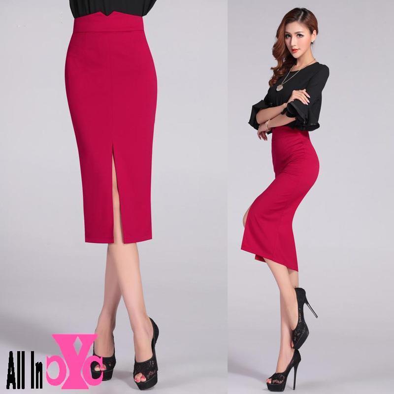 popular black midi skirt aliexpress