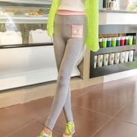 A765 autumn and winter fashionable pocket kitten Leggings high elastic modal nine points pants