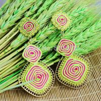 new arrive High quality Retro Tibetan Hollow Plant Fashion crystal Earrings For Women long drop earing Wholesale free shipping