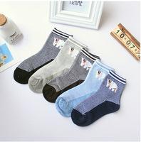 A801 children's socks wholesale Korea cute adorable candy Pinstripe polar bear cotton socks boy 3 yards