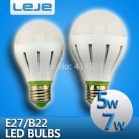 4pcs/lot  5W 7w LED Bulb 110v 220v 240v e27 b22 led lamp  cold/warm white smd 5730 led bubble ball bulb free shipping