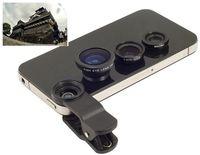 Universal 3in1 180 degree Fish Eye FishEye Lens + Wide Angle + Micro Lens Cap Camera Kit for iPhone Samsung HTC LG NOKIA Google