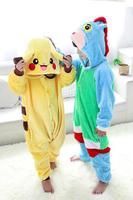 Free shipping Unisex for Children Pikachu animals Pyjama Cosplay Costumes Baby Home sleepwears