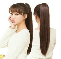 """22""""(55cm) 120g  Long Straight Synthetic Ponytail Clip In hair extensions Ribbon Ponytail"""