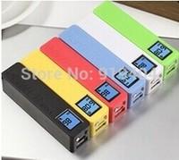 2600mah Perfume Portable Power Bank with Digital LCD Display & Led Light for iPhone iPad Samsung Mobile Phone Free Ship 500PCS