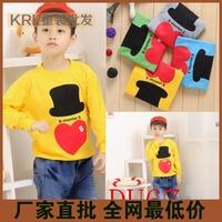 Children's clothing big boy male child autumn new arrival long-sleeve T-shirt
