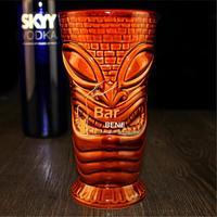 Popular American Collection Bar Furnishing Articles Tiki Cup Hawaii Home Decoration Big Eyes Ceramic Cocktail Mug Creative Cup