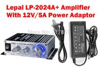 Lepy LP-2024A+ high-power HIFI stereo Class-T power digital audio car amplifier with 12V/5A Power adaptor for sale