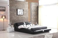 0414-807 modern design soft leather bed