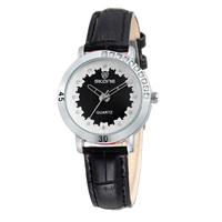 SKONE Brand Women enuine Leather Watches For Women With Rhinestone Dress Wristwatches MIYOTA 2035 Japan Movt