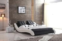 0414-803 modern design soft leather bed
