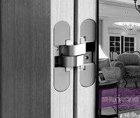 polished chrome door hinges