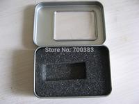 (500PCS)OEM Rectangular USB box with window,Metal packaging,Metal Transparent gift box,Size:8.7*6*1.8CM