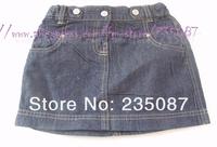 Retails(1-5Y) girls denim skirts for girls, kids denim mini skirts, kids jeans skirts, adjustable waist skirts Free shipping
