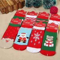 Baby 2014 New baby christmas Theme Socks new year Gift  fruit 100% cotton Casual meias socks Boy Girl's Socks newborn