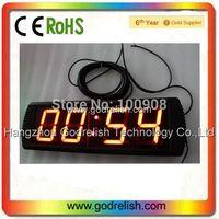 """Godrelish 4"""" Red Led Countdown timer 4 digital  wall clock"""