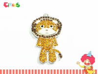 Newest ~! 48mm*30mm   10pcs/lot   Lion  Rhinestone Pendants For Fashion Necklace Making