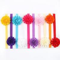 Retail  Baby Infant handmade Flower Headbands toddler christmas  headwear girls hair accessories 10color pick