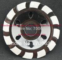 Single row diamond cup grinding wheel for floor polishing,  size 100*22.23*5.5*10