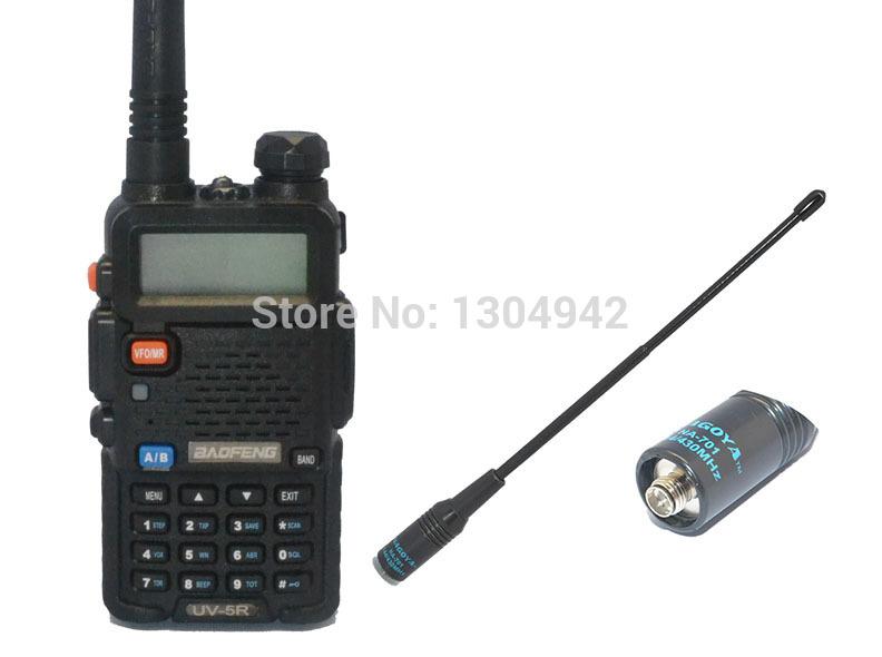 New BAOFENG UV-5R VHF/UHF Dual Band HAM TWO WAY Radio amateur walkie talkei +brand Nagoya 701-F antenna+free shipping(China (Mainland))