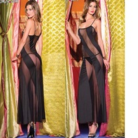 Exotic Costumes Bodysuit Fantasias Femininas vestidos Black pole wear Hot Sexy Nightclub Chemise long lingerie plus size