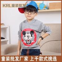Autumn hat male child sweatshirt long-sleeve T-shirt
