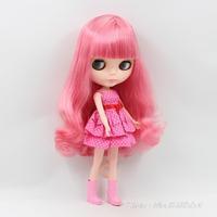 11.5 inch dolls Nude B female Bjd 1/6 four big eyes pink hair bangs cute doll mini dolls for girls