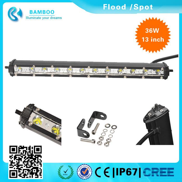 China supplier 13'' 36W Bamboo Led Light Bar Led Light Bar go kart Off road Flood/Spot for Truck ATV SUV UTE Sand buggy(China (Mainland))