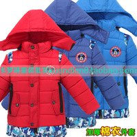 Male female child outerwear thickening wadded jacket cotton-padded jacket