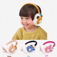 Cute Children's Baby's Protection Winter Warm Cartoon Bear Fur Earmuffs Ear Warmers 4 Colors Winter Essential Baby Accessories