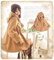 Mori lolita girl woolen outerwear jacket loose hoodie women winter coat bomber varsity jacket brandy melville cardigan