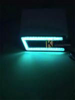 1Pair (2PCS) Special design U Shape Guide Daytime Running Lamp COB DRL Waterproof Fog Lights