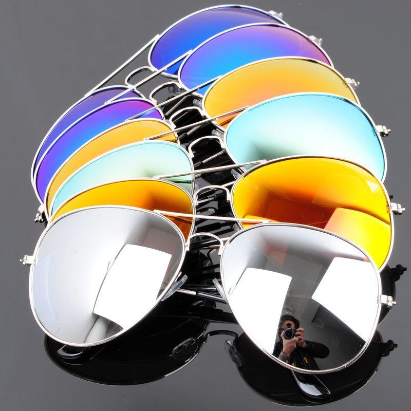 Pacotes gratuitos enviados para comprar o suficiente $6 homem elegante sombreamento os óculos de sol 3026 borda prata - TCS82(China (Mainland))