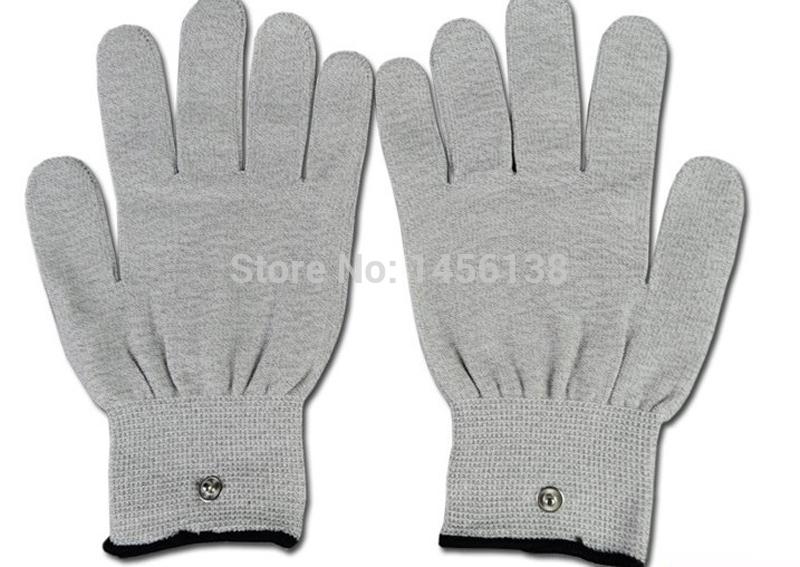 Tens Ems massager conductive unit gloves improve blood circulation(China (Mainland))