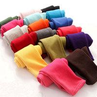 Retail 2014 autumn winter girls candy color fleece leggings baby kids fashion pants 1004
