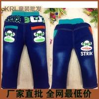 2014 autumn children denim trousers child clothes