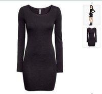 Women hot sale long sleeve spring autumn bandage dress celebrity 2015 mini latest designs Free shipping