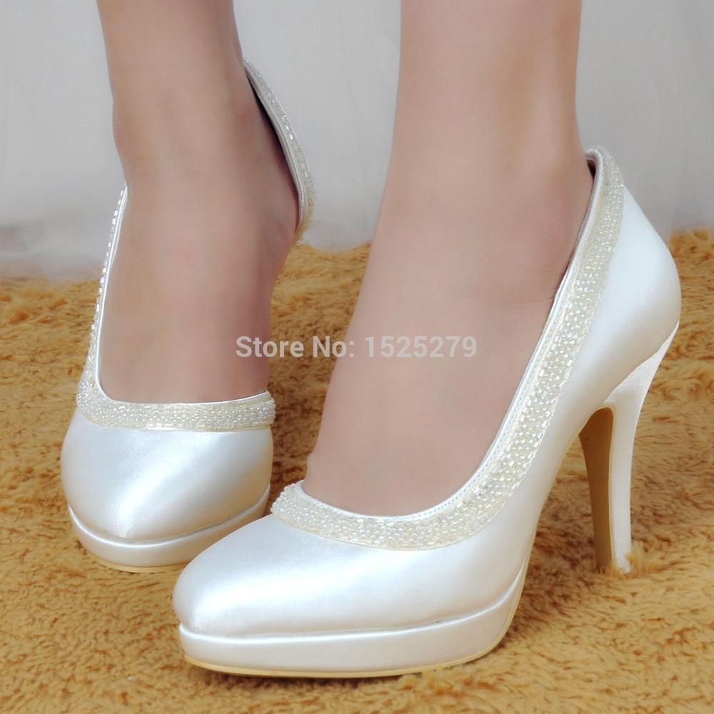aliexpress popular ivory platform pumps in shoes. Black Bedroom Furniture Sets. Home Design Ideas