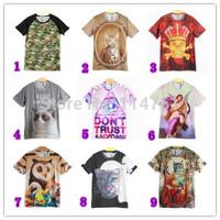 [hot sale] FREE SHIPPING 2014 newest style men high quality3D tshirt ,M-L-XL-XXL