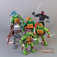Teenage Mutant Ninja Turtles Splinter Leonardo Michelangelo Donatello Raphael Classic Collection Figures Toys 6pcs/set MVFG154