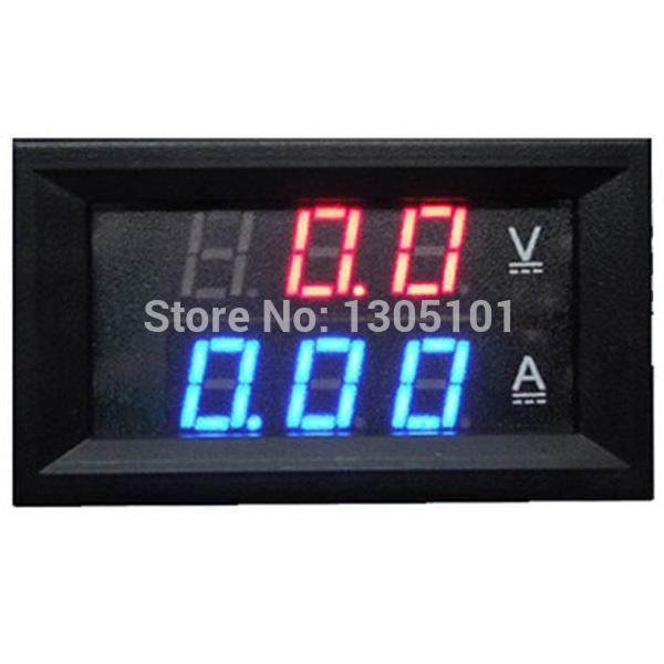 Wholesale Retail DC 0V 100V Led Volt Amp Meter Voltage Meter Current Meter Ampere Panel Meter