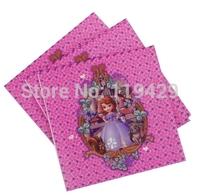 luxury party sofia  princess  kid baby girl baby happy birthday party decoration kits supplies  girl  Napkins 60pcs/lot