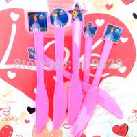luxury  sofia  princess kid baby girl baby happy birthday party decoration kits supplies favors girl  knife 36pcs/lot