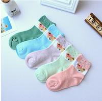 A806 children's socks wholesale Korea cute candy color little bow bear cotton GIRLS SOCKS 3 code