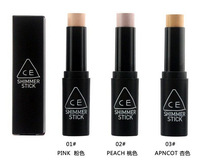 Wholesale !!  48pcs /lot 3CE Shimmer Stick Whitening Concealer Brighten Cream 2 Colors Free Shipping