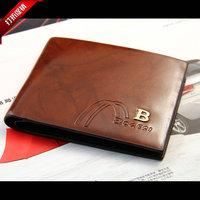 Men's leather wallet purse factory wholesale custom leather wallet purse wallet new men fall