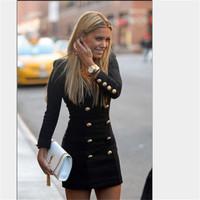 Double Breasted Jacket V neck Slim Outwear knit cardigan women Winter jacket coat  Long Casual jacket long sleeve Dress 20530